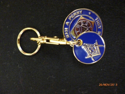 TROLLEY COIN HOLDER  KEY RING